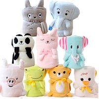 Wholesale car quilts online - Siesta Animal Blanket For Children Cartoon Coralline Baby Soothing Towel Lovely And Comfortable Car Roll Blankets Hot Sale mz W