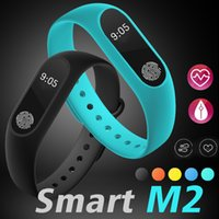 Wholesale Heart Rate Monitor For Android - M2 Smart Bracelet Fitness tracker Smart Watch Heart Rate Monitor Waterproof Smart Bracelet Pedometer Call remind Health Wristband