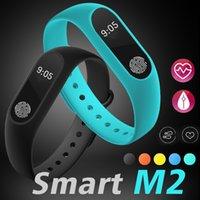 Wholesale Pedometer Rate - M2 Smart Bracelet Fitness tracker Smart Watch Heart Rate Monitor Waterproof Smart Bracelet Pedometer Call remind Health Wristband