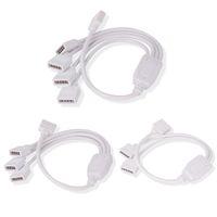 cabo de extensão de 4 pinos venda por atacado-5Pin 4Pin Flexível LED Splitter Extensão Splitter Cable Splitter para RGB SMD 3528 5050 LED Strip Light