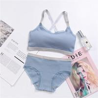 wholesale Women Bra Panties Set Comfort Underwear Japanese Lingerie Set  Cotton Thin Screw Thread Push Up Bra Set Lace Stitching 378b54f36