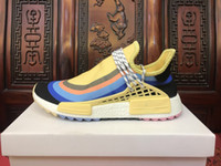 Wholesale mens trail running shoes - Pharrell Williams HU NMD Trail Human Race Mens Women Shoes Luxury Brand Running Sneakers Men Designer Trainers New Color