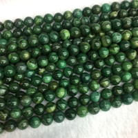 """Wholesale jewellery heart stones - Natural Genuine South Africa Green Jade Round Jewellery Loose Ball Beads 4-12mm 15.5"""" 05440"""