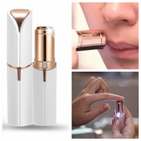 Wholesale faces rotate - Electric Facial Hair Remover Shaver Personal Face Care Mini Painless Women Beauty Tools W6228
