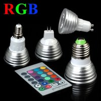 Wholesale mr16 rgb bulb for sale - For Christmas Party KTV Lighting RGB W Led Spot Lights E27 MR16 GU10 Led Lights Bulbs Memory Colorful Change AC keys Controller