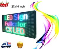 """Wholesale Scrolling Led Advertising Signs - 27""""X14"""" P10 outdoor full color scrolling colorful text message LED display full color advertising LED Sign"""