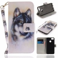 Wholesale wolf phone cases online – custom Flip Wallet Case For Huawei Enjoy P9 Lite Mini Cases Coque Wolf Owl Tiger Lion Painted Leather Phone bags accessories Cover