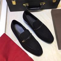 zapatos de guisantes de moda al por mayor-Primavera y otoño guisantes de cuero tejido transpirable zapatos casuales tendencia de la moda del todo-fósforo de los zapatos de la boda del negocio de los jóvenes