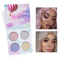 kits de maquillaje brillo al por mayor-2018 new4colour HANDAIYAN Chaleleon Highlighter Palette Face Contour Makeup Destacando Bronzer Glow Aurora Shimmer Eyeshadow Cosmetic Kit