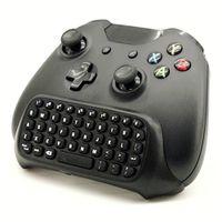удаленное клавиатурное bluetooth оптовых-Черный мини Bluetooth Беспроводной лучший адаптер клавиатуры клавиатуры клавиатуры текст Pad пульт дистанционного управления для Microsoft Xbox один контроллер консоли