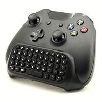 melhor controlador bluetooth venda por atacado-Preto Mini Sem Fio Bluetooth Melhor Adaptador teclado Teclado Text Pad controle Remoto para Microsoft Xbox One Console Controlador