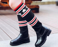 Wholesale Flower Girl Boots - 2017 new black two cotton boots girls autumn and winter small princess boots personality fashion children's shoes