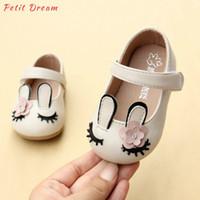 мечты ребенка оптовых-Petit Dream бежевый Единорог малыш Baby Girls обувь искусственная кожа животных мультфильм новый Baby Girls первый ходунки обувь