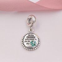 ol tarzı takı toptan satış-Otantik 925 Gümüş Boncuk Değişim Olun Dangle Charm Avrupa Pandora Stil Takı Bilezikler Kolye Uyar ENG791169_58