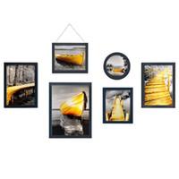 ingrosso combinazioni di colori della pittura della stanza-Combinazione decorativa in legno massello, decorazioni da parete per soggiorno, cornice decorativa per foto (colore: bianco e nero)