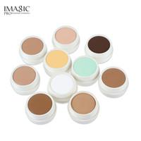 makyaj izleri toptan satış-IMAGIC Kapatıcı Krem Makyaj Yüz Kremi Izleri Çiller Siyah Göz Kapatıcı Krem Makyaj Kozmetik 10 Renkler