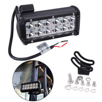 Wholesale 36W Cree Flood LED Beam Light Bars V inches Super Bright White K lms for Jeeps Off road Vehicles ATVs SUVs