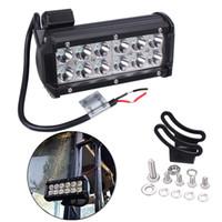 led-fahrzeugleuchte groihandel-36W Cree Flood LED-Strahl Lichtbalken 12V 7 Zoll Super Bright White 6000K 3000 lms für Jeeps Geländewagen ATVs SUVs