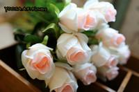 ingrosso piante artificiali desktop-YOOSA 10 pz / lotto Rosa Fiori Artificiali di Alta Qualità Fiore di Seta Simulazione flores Falso Pianta Festa di Nozze Desktop Home Decor