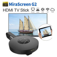 ios android için mirakast dongle toptan satış-2018 Hot-Sale MiraScreen G2 Wireless HDMI Wifi Dongle TV Stick 2.4G 1080P HD Display Receiver Chromecast Miracast For IOS Android PC TV