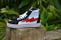 Wholesale Street Board - REVENGE X STORM BLACK WHITE RED HIGH TOP SNEAKERS Men's Casual Shoes Hip-hop Street Dance Chute Board Sports Shoes Anti Slip