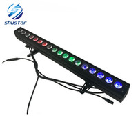 Wholesale dmx stage light bar - 18x12W RGBW 4IN1 Led Wall Wash Light DMX Led Bar DMX Line Bar Wash Stage Light For Dj Indoor horse race lamp