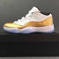 ingrosso scarpe da basket di piccole dimensioni-2018 11 Scarpe da pallacanestro Donna Uomo Low Metallic Gold Cerimonia di chiusura Navy Gum Varsity Red Concord Sneakers sportive Scarpe da corsa taglia 5-13