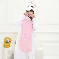 Wholesale Kids Latex Costume - cosplay costume 16 Style Animals Kigurumi Pajama Adult kids Flannel Warm Disguise Anime Role Cosplay Costume Unicorn Panda Totoro Onesie