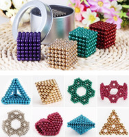 Wholesale 216 magnets - Magic cubes 16 Colors Option 5mm 216 pcs Neo Cube Magic Puzzle Metaballs Magnetic Ball With Metal Box, Magnet Colorfull Magic Toys dhl