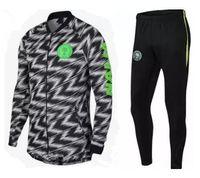 Wholesale microfiber suits - 2018 World Cup Nigeria SOCCER JERSEY training suit jacket 18 19 Nigeria IWOBI chandal FOOTBALL long sleeve jacket kits tracksuit Sportswear