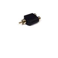audio y adapter rca großhandel-Konverter RCA Stecker auf 2RCA Buchse AV Audio Y-Splitter Stecker Adapter 1 Stecker auf 2 Buchse Extender Stecker