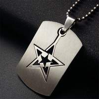 Wholesale dog chokers - Free shipment JI-316 Brand Link Chain Man necklace Military Army Dog Tags Men's Stainless Steel Pendant Necklaces Jewelry Gift Choker Wholes
