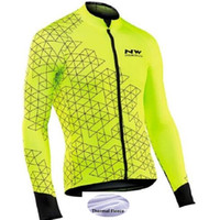 Wholesale 2018 Winter Fleece Thermal Cycling men s Long Sleeve Cycling Jersey Mountain Road Uniform Clothing pro Triathlon Bike Outdoors