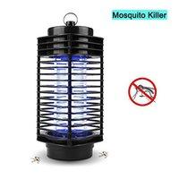 luz nocturna de mosquitos al por mayor-Mosquitera electrónica Lámpara resistente Mosquito repelente contra insectos Zapper Bug Fly Stinger Pest Luz nocturna UV Night Trap Light