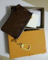 clé pour les femmes achat en gros de-2017NEW KEY POUCH Damier toile tient de haute qualité célèbre designer classique femmes porte-clés porte-monnaie petit leer avec sac boîte cadeau # 88568