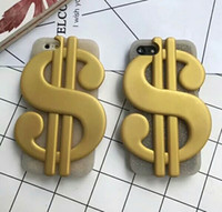 Wholesale goophone 5s online - 3D Silicon Dollar phone case cover rubber back cover Strap For iPhone S SE s splus i6 i6s Plus goophone