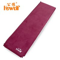 Wholesale Inflatable Male - 6.5cm thick male wolf suede automatic inflatable cushion moisture-proof mattress outdoor camping tent mat nap mats