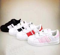 Wholesale Female Sneakers - wholesale Skateboarding Shoes baby Casual Shoes Superstar Female Sneakers kids Zapatillas Deportivas Mujer Lovers Sapatos Femininos XMAS