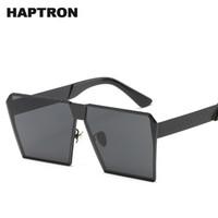 ingrosso colorati grandi vetri-Occhiali da sole da uomo di marca HAPTRON Moda occhiali da sole quadrati grandi con montatura colorata occhiali da sole hipster colorati Occhiali da sole super grandi