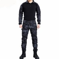 Wholesale black paintball uniform resale online - Paintball Tactical Camouflage Uniform Camouflage Combat Suit Clothing for and Fishing Shirt and Pants