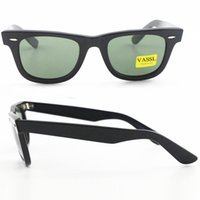 Wholesale Vintage Angles - 1pcs Top Quality Designer Sunglasses brand Black Big Angle Frame Green UV400 Vintage Mens Sunglasses for Women with case and box