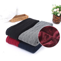 Wholesale Warm Leggings For Girls - HOT SALE Women Pants Cashmere Knitted Trousers Female Winter Woolen leggings Ladies Warm Standard Pants for girls Free Shipping