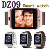 Wholesale Push Fit - DZ09 smart watch Android Watches music player SIM Intelligent mobile phone Sleep State Wristband can fit 32G sd card vs GT08 A1 U8