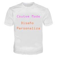 camiseta de los hombres ocasionales al por mayor-Camiseta personalizada 3D Hombres Mujeres Camisetas de los clientes Camisetas impresas 3D Casual Tees Tops Camiseta Plus Size 5XL Diseño personalizado