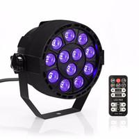 Wholesale Uv Led Par - Best Price 36W UV Purple LED Stage Light DMX Stage Lighting Effect Par Lamp For Party Disco Club DJ Holiday Decoration Lights