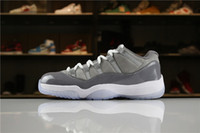 Wholesale newest low cut basketball shoes - 2018 Newest Release 11 Low Cool Grey Mens Basketball Shoes Authentic Real Carbon Fibers Sports casual Shoes 528895-003