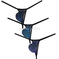 schmaler string großhandel-Sexy schmaler elastischer Gürtel String Thong Pant Herren Cover Nähte Bikini Tanga Unterwäsche