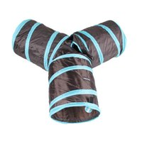 Wholesale tunnel tube online - New Cat Tunnel Collapsible Way Play Toy Tube Hole Pet Rabbits Dogs for pets funny toys