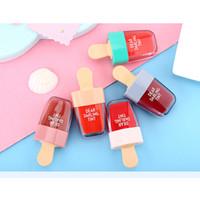 korean waterproof lipstick venda por atacado-Korean ETUDE HOUSE Caro Darling Tint Lipgloss Sorvete Maquiagem Líquido Matte Batom Creme Hidratante Permanente À Prova D 'Água Lip Gloss 5 Cor
