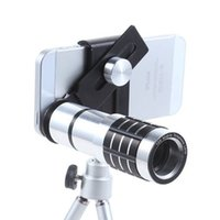 Wholesale general travels - 12X phone telescope general 12 times long focus camera lens with universal clip three foot travel to shoot the artifact